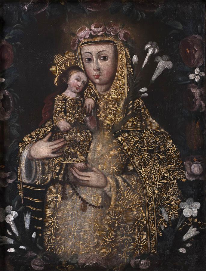 Santa Rosa de Lima con el Niño Jesús